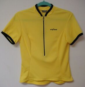 Shebeest Women's Milano Yellow SS Half Zip Cycling Jersey Small 1202-137-S