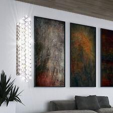 Bilder Chrom Wand-Leuchte mit Schalter Flur Bad Spiegel Kristall Design Lampe