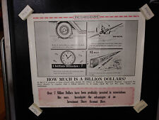 Vintage ICN Picturegram Poster: 1946 How much is a billion dollars? graphic