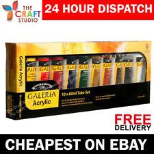 Winsor & Newton Galeria Acrylic Paint 10 x 60ml Tubes Multicolour Gift Set