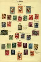 Estonia 1921/8 range of issues to include red cross, weaver, blacksmith,  Stamps