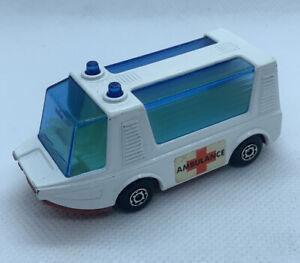 Vtg 1971 Matchbox Lesney Superfast #45 Stretcha Fetcha Ambulance Red Base Car