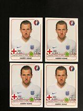 4X  Harry Kane England Panini UEFA Euro France 2016 STICKERS