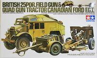 Tamiya 35044 1/35 Model Kit British Army 25 Pounder pdr Field & Quad Gun Tractor
