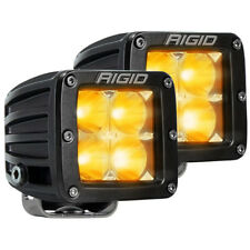 Set of 2 - RIGID Industries Dually Series Flood LED; AMBER COLOR