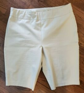 NEW - So Slimming by Chico's - beige stretch pull on knee length shorts - size 3