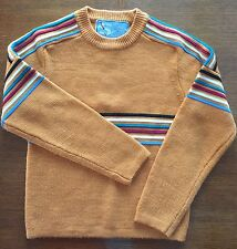 Vintage S-Kimo By Susie's Casuals Ski Snow Sweater Women's Medium Orange Stripes