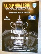 1996 FA Cup Final Programme- LIVERPOOL v MANCHESTER UNITED, 11th May