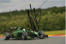 ANDRE LOTTERER CATERHAM F1 HAND SIGNED 6X4 PHOTO.