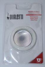Bialetti Ersatzteilset Dichtung und Filter für Espressokocher Aluminium 6 Tassen