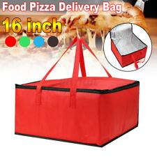 16 inch Hot Food Pizza Takeaway Restaurant Delivery Bag Thermal Insulated  !!