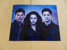 Kristen Stewart, Robert Pattinson, Taylor Lautner 8x10 Autographed Photo