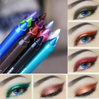 UK 2x Waterproof Long lasting Eye Liner Pencil Pigment 6 Colors Eyeliner Makeup