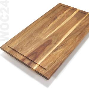 AKAZIE Herdabdeckung Herdabdeckplatten Ceranfeld Herd Schneidebrett Akazien Holz