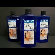 Relief Calming Vapor Bath Soothing Soak with Menthol & Eucalyptus 16 oz 3 Pack