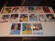Lot of 15 1980 Topps Junbo Baseball Cards White Backs