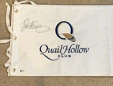 Rory Mcilroy Signed Quail Hollow Club Flag 1st Win Beckett Certification