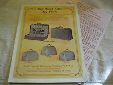 1929 SEWARD TRUNK & BAG Co., LUGGAGE, SUITCASE, BAG BROCHURE WITH PRICE LIST
