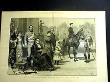 Prince and Princess of GERMANY Silver Wedding Berlin 1883 Large Folio Engraving
