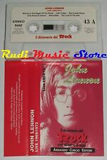 MC JOHN LENNON Live 1969 1972 DIZIONARIO ROCK PROMO ITALY BEATLES no cd lp dvd