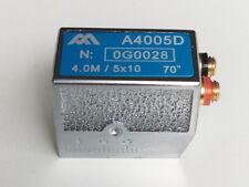 Dual Element Angle Beam Ultrasonic Probe 4Mhz / 5x10 mm 70º F20, For Krautkramer