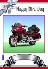 Free P/P-Honda Goldwing tarjeta (varios a elegir) Personalizado A5-tus palabras