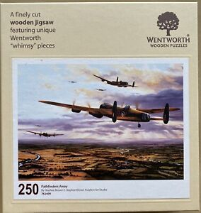 """WENTWORTH """"Pathfinders Away"""" 250 piece Wooden JIGSAW PUZZLE Whimsy"""
