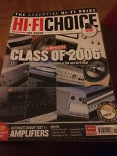 HI-FI Choice CD Amp Speakers Sub Music Cables Etc Issue No 273 November 2005