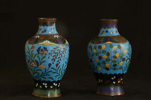 Paire de vase cloisonnés, Chine, XIXème siècle / Pair of vase, China 19th