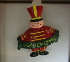 Holiday Merry Christmas Drummer Boy Music Instructor Brooch