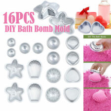 16pcs DIY Mold Half Sphere Metal Bath Bomb Fizzy Craft Cake Candle Mould 8 Types