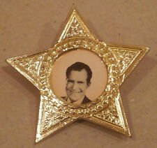 VERY RARE RICHARD NIXON PIN STAR SHAPE - 1960s