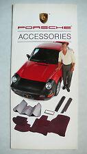 Brochure porsche accessoires, 1989, 6 pages Folder, Anglais de usa