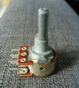 ALPS 749F 100KBx2 Dual Mixer Pot Potentiometer Volume Japan MIJ D Post