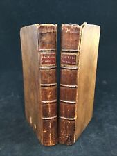 Early French 1778 Les Caracteres de Théophraste Character Studies 2 Vol Leather