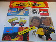 Lego catalogue annee 1976 /  large catalog from 1976