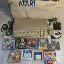 ATARI 520STE COMPUTER WITH GAMES AND MORE - FULLY WORKING + EXTRA RAM ADDED 1985