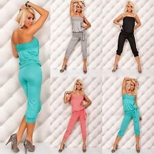 Bandeau Patternless Tall Jumpsuits & Playsuits for Women