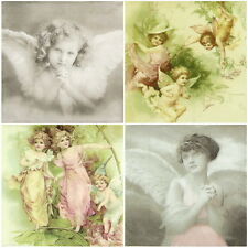 Papel 4x Servilletas Para Decoupage Decopatch Sagen Vintage Angel-Mix