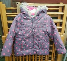 Gorgeous MOTHERCARE Brown/Coral Spot, Hooded Coat/Jacket, Age 4-5 Years