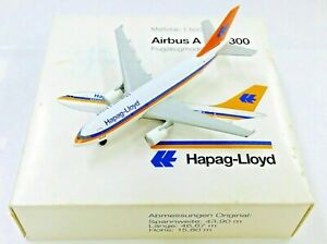 """HERPA WINGS 1:500 SCALE DIECAST """" HAPAG-LIOYD AIRBUS A 310-300 """" 501026"""