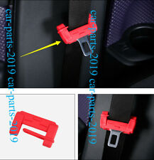 4PCS Red Door Seat Safety Belt Buckle Cap Cover Trim For VW Golf 7 MK7 2012-2017