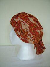 Vintage 60s paisley fabric turban style hat