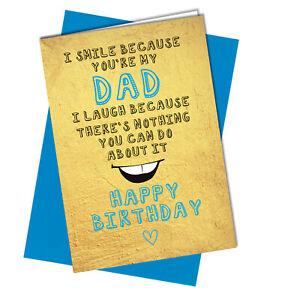 BIRTHDAY CARD Funny Cheeky Rude to Dad #988