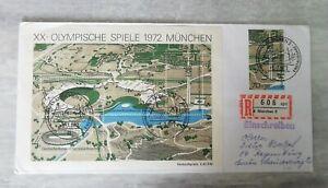 Jeux Olympiques Munich 1972 - Einschreiben - Enveloppe