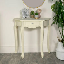 Cream painted half moon console table French shabby chic hallway furniture