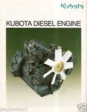 Equipment Brochure - Kubota - Diesel Engine - Product Line - c1992 (E2226)