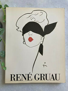 Livre René Gruau 1984 illustration dessin mode french fashion book RARE