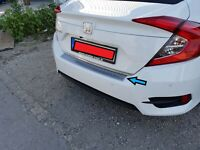 2016Up Honda Civic FC5 Chrome Rear Bumper Protector Scratch Guard S.Steel