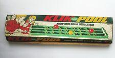 1965 Jaymar Klik Pool Toy Game Set in Box With Cue Stick Vintage Big